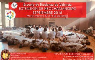 Formación en la extensión Biodanza y Neochamanismo, VALENCIA, España 2018